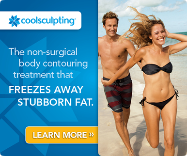 CoolSculpting® is a revolutionary non-surgical contouring treatment that freezes stubborn fat, which then is naturally eliminated from your body.